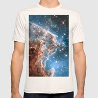 Monkey Head Nebula Mens Fitted Tee Natural SMALL