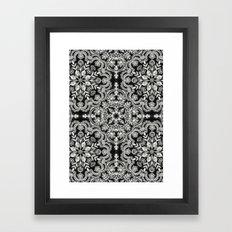 Black & White Folk Art P… Framed Art Print