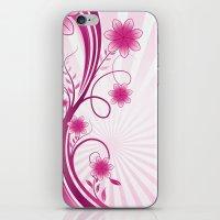 Pretty Pink Flourish and Flower iPhone & iPod Skin