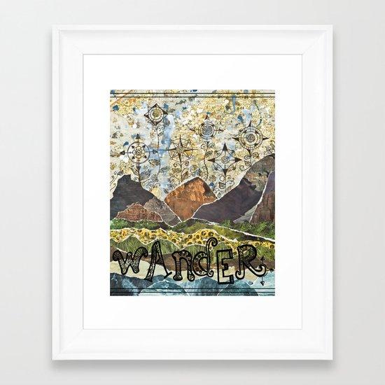 Compass Rose Garden Framed Art Print
