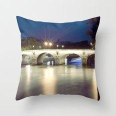 Bridges of Paris by Night Throw Pillow