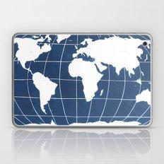 Navy Map of the World Laptop & iPad Skin