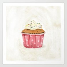 Cupcake illustration Art Print