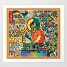 Life of Buddha - 7. Enlightenment and teaching  Art Print
