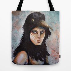 Raven girl Tote Bag