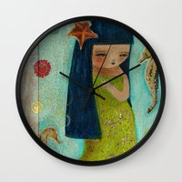 A Little Mermaid Wall Clock