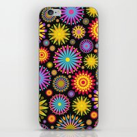 Bright And Colorful Flowers iPhone & iPod Skin