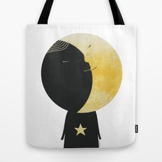 The day I kissed the Moon Tote Bag