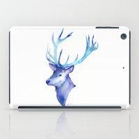 Blue Antlers iPad Case