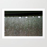 Wet Window Art Print