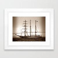 Newport Harbor  Framed Art Print