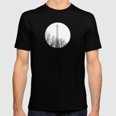 eiffel Mens Fitted Tee Black SMALL