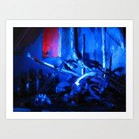 Glitch Space 3 Art Print
