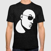 The Rock Dwayne Johnson  Mens Fitted Tee Tri-Black SMALL