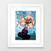 Attack of the Super Furry Animals! Framed Art Print