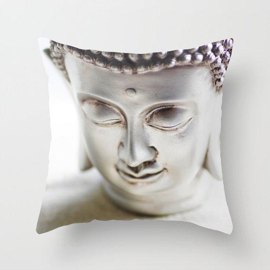 Silver Buddha Throw Pillow