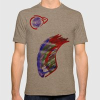 Face And A Moon Mens Fitted Tee Tri-Coffee SMALL