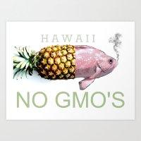 Hawaii NO GMO's Art Print