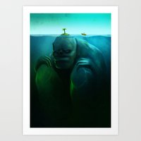Lonely Island Art Print
