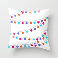 Circle Bunting Throw Pillow