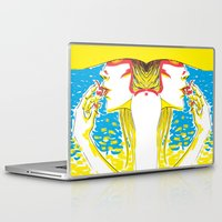 Laptop & iPad Skin featuring summer girl 2 by miguel ministro