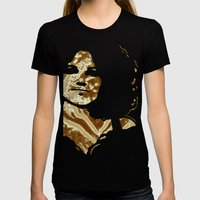 Gold Power Womens Fitted Tee Black SMALL
