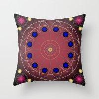 Fleuron Composition No. 116 Throw Pillow