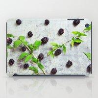 Scattered Blackberries iPad Case