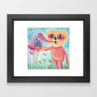 Calabacito's Crazy Hand Framed Art Print