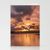 A Cold Autumn Sunrise Stationery Cards