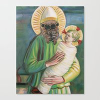 Spider with Christ Child Canvas Print