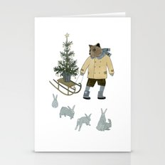 Bear, Christmas Tree And… Stationery Cards