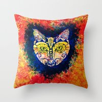 MIAU! Throw Pillow