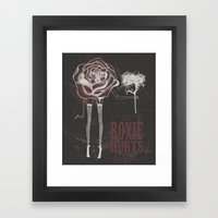 roxie hurts Framed Art Print