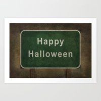 Scary Happy Halloween Ro… Art Print