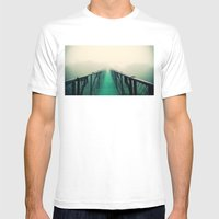 suspension bridge Mens Fitted Tee White SMALL