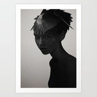 Art Prints featuring Eva by Ruben Ireland