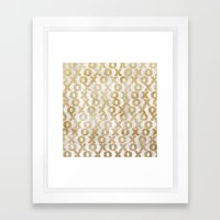 Xoxo Gold Framed Art Print