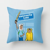 Community Time! Throw Pillow
