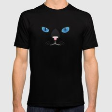 Little black cat Mens Fitted Tee Black SMALL