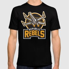 Republic Rebels - Black SMALL Black Mens Fitted Tee
