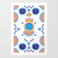 Lucky Evil Eye Cuckoo Clock Art Print