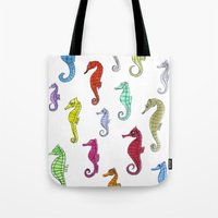Seahorses Under The Colo… Tote Bag