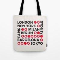 I Love This City Typogra… Tote Bag