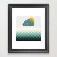 Sea Polygons Framed Art Print