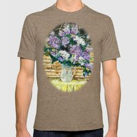 Lilacs Mens Fitted Tee Tri-Coffee SMALL