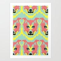 The Pack of Modular Wolves Art Print