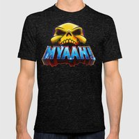 MYAAH! Mens Fitted Tee Tri-Black SMALL