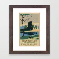 Thunder Bluff Classic Rail Poster Framed Art Print