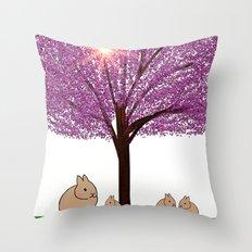 rabbit-876 Throw Pillow